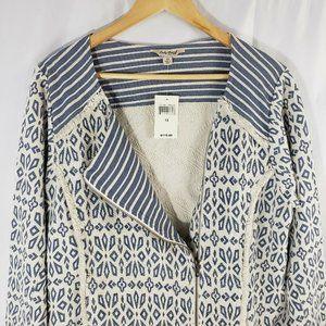 Lucky Brand Woven Blazer Jacket Plus Size 1X